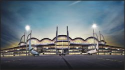 istanbul sabiha gokcen international airport at night